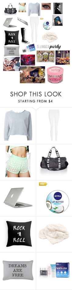 """(Kpop theme) slumber party"" by trust-kashmir ❤ liked on Polyvore featuring GaÃ«lle Bonheur, New Look, Hot!MeSS, Victoria's Secret PINK, Converse, Speck, Nivea, Park B. Smith, Bliss and kpop"