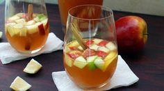 This apple sangria, made with fresh apples, apple cider, vanilla vodka, and cinnamon sticks, tastes just like fall.