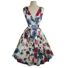50s Style Pinup Floral Dress