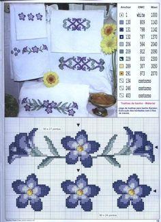 Fiori blu - Asciugamani