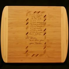 Custom engraved cutting board for Kiran from 3DCarving on Etsy