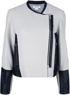 helmut lang Off-Centre Zip Fastening Jacket - Lyst