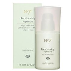 Boots No7 Rebalancing Night Fluid - I use this twice a day, and my oily/combination skin has never been better.