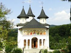 The new church of the Sihastria monastery, Moldavia, Romania Romania, Gazebo, Outdoor Structures, Temples, Europe, Kiosk, Pavilion, Cabana