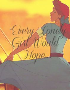 Every lonely girl would hope she's a princess.