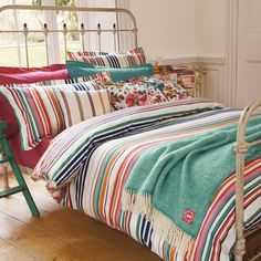 Joules Deckchair Stripe Luxury Bed Linen | Quality Striped Bedding Sets at Bedeck 1951