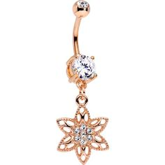 Inspiration Dezigns Belly Button Navel Curved Barbell Ring Blackline Enchanted Loop Dream Catcher Dangle 14G