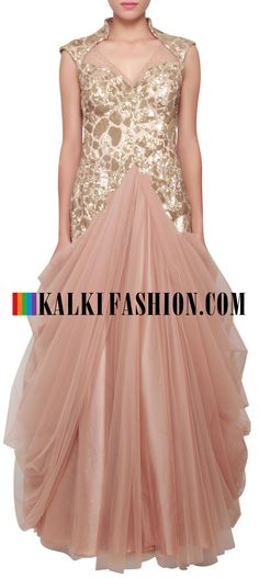 Buy Online from the link below. We ship worldwide (Free Shipping over US$100)  http://www.kalkifashion.com/lehengas/indowestern-gowns-lehengas.html