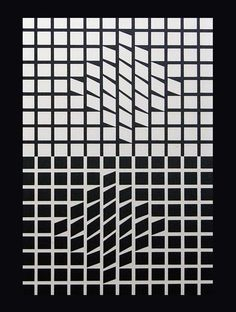 Victor Vasarely - Eridan II (1956), I really like the bold sharp edges in this optical illusion