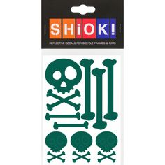 #shiok! #becomevisible! #retro-reflective #cycling #outdoor #sticker #bike I 9.95 EUR (incl. VAT) Sports Advertising, Green Theme, Skull And Bones, Popular Pins, Cycling, Stickers, Retro, Skulls, Profile