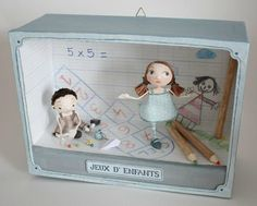 """""""Jeux d'Enfants #2"""" - Photo de BOITES ET CADRES DISPONIBLES * Available boxes and frames - Tibout de blog"""