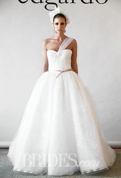 Brides.com: Edgardo Bonilla - Fall 2015 Wedding dress by Edgardo BonillaPhoto: Thomas Iannaccone