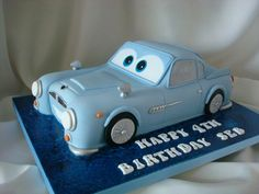 Finn McMissile from Cars Movie Cake