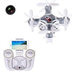 AirSelfie Portable Selfie Drone with HD Camera 2.4G WIFI FPV Altitude Hold Pocket Selfie Drone Quadcopter Smartphone Control Android iOS, Light Weight Flying Camera