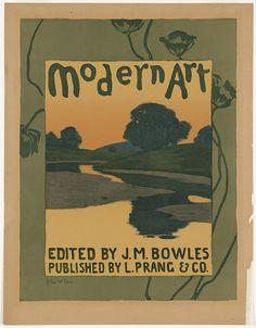 "J.M. Bowles, ed. 1895 ""Modern Art"" / cover: Arthur W. Dow, published by L.Prang & Co."