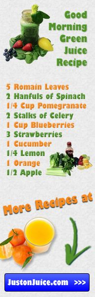Try a Good Morning Green Juice Recipe for your next juice fast! #justonjuice #juicing ( http://www.justonjuice.com/good-morning-green-juice-recipe )