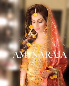 Flower Bridal Mehndi Dresses, Asian Wedding Dress, Pakistani Wedding Outfits, Pakistani Bridal Dresses, Pakistani Wedding Dresses, Shadi Dresses, Bridal Outfits, Flower Jewellery For Mehndi, Flower Jewelry