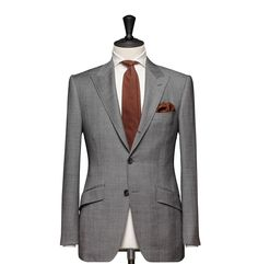 Tailored 2-Piece Suit – Fabric 4538 Glencheck Grey Cloth weight: 260g Composition: 100% Wool Super 110's