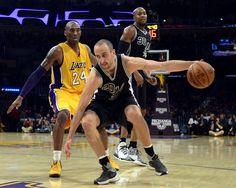 Ginóbili fue el goleador de la victoria de San Antonio Spurs ante los Lakers