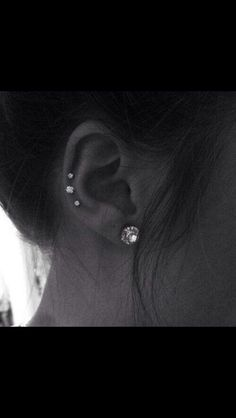 Piercing Idea Lovely Picture Middle Cartilage Pretty Ear Piercings Triple Helix