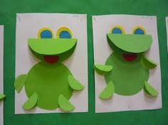 Craft ideas for children. Frog - made from paper and cardboard / Arts and Crafts Activities for Kids. Children's Arts and Crafts Activities. Drawing and Poems Frog Crafts Preschool, K Crafts, Easy Arts And Crafts, Craft Activities For Kids, Craft Ideas, Animal Crafts For Kids, Paper Crafts For Kids, Toddler Crafts, Art For Kids
