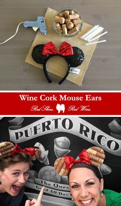 WINE CORK MOUSE EARS (DIY)  Tags: animal kingdom, burlap, craft, crafting, crafts, cut corks, disney, disney parks, epcot, epcot food and wine, florida, food festival, glitter, glue gun, half corks, houston blogger, lake buena vista, magic kingdom, mickey mouse, minnue mouse, mouse ears, orlando, park hopper, pattern, sequins, soak, universal studios, walt disney world, wine, wine and dine half marathon, wine cork crafts, wine corks
