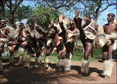 Zulu dancers in South Africa