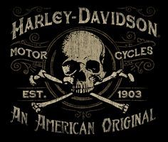 #harley #skull #illustration