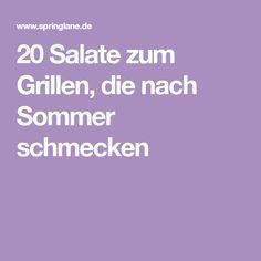 20 Salate zum Grillen, die nach Sommer schmecken