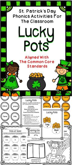 St. Patrick's Day Fun For The Classroom - a great activity pack that uses the Common Core Standards to celebrate St. Patrick's Day in the classroom. #literacy