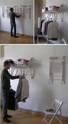 Dale un uso a esas sillas plegables que tienes por ahí guardadas. Pueden ser muy útiles.