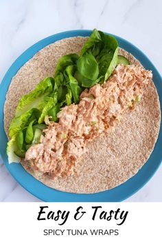 Can Tuna Recipes Healthy, Canned Tuna Recipes, Healthy Lunches For Work, Healthy Low Calorie Meals, Work Meals, Healthy Meal Prep, Lunch Recipes, Low Calorie Wrap, Low Carb