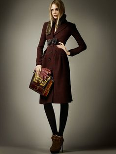 burberry pre-fall. great color and bow detail