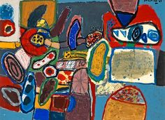 Beverloo Corneille - The Garden 1963 #art #painting - www.didgiwidgi.com