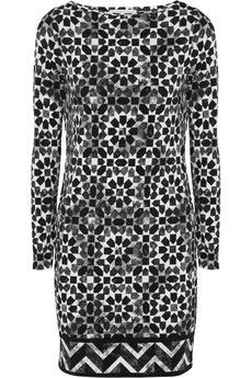 MICHAEL Michael Kors Printed stretch-jersey dress | NET-A-PORTER (bold monochrome print stretch-jersey, flexible piece day or night, simply switch accessories)