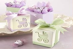 Wholesale - Baby's Day Out Laser-Cut Carriage Cube Pram Shower Favor Candy Boxes Wedding Party Gift Bags Holders Online with $0.44/Piece on Ywlanyang's Store | DHgate.com