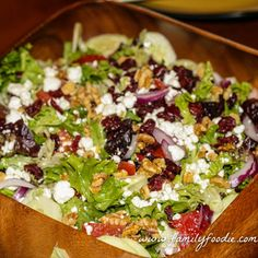 Goat Cheese Craisin Walnut Salad is out of this world! What a great combination of flavors!