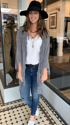 Chenille Fringe Cocoon Cardi Grey | The Rock Box Store