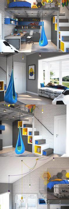 Boys Room Design, Kids Bedroom Designs, Cool Kids Rooms, Small Space Interior Design, Lego Room, Cuisines Design, Kids House, Home Deco, Room Inspiration