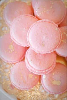 pink and gold macaroons for Valentine's gifting