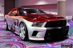Ford Mustang with custom paint Mustang Gtr, Red Mustang, 2010 Ford Mustang, Shelby Mustang, Ford Mustangs, Car Guide, American Muscle Cars, Hot Cars, Cars And Motorcycles
