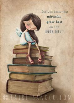 Book Fairy A3 Art Print