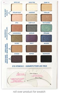 theBalm Balmsai EyeShadow and Brow Palette for Fall 2014 1 Eye Stencil, Brow Stencils, The Balm Makeup, Eye Makeup, Makeup Haul, Brow Palette, Eyeshadow Palette, Eyeshadows, Maquillaje The Balm