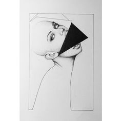 19B4 by IoannisVgoudes #dots #dotwork #monochrome #monoart #minimal #lines #shapes #model #woman #head #deviantart #black #ink #abstract #inspiration #the #grudge #johnnygou #ioannisvgoudes