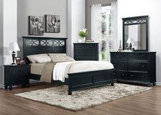 Sanibel Black Eastern King Panel Bed