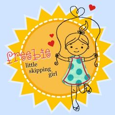 little Skipping girl (Freebie) - Stickdatei
