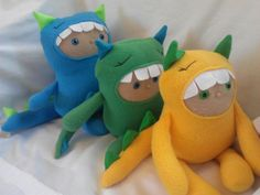 Hungry Monster Plushies  (the Burbs Handmade Toys,llc)