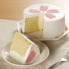Cherry Blossom cake.  Looks yummy!