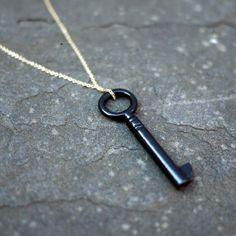 eu.Fab.com | Found Key Necklace Black
