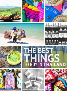 The 25 Most Popular Thailand Travel Pins /kohsamuiguide/  >> The Best Things to Buy in Thailand (+ Shopping Tips for Bangkok, Chiang Mai and Koh Samui) #thailand #shopping http://www.kohsamuisunset.com/best-things-to-buy-thailand/